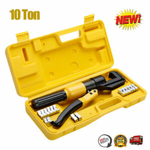 New 10 Ton Hydraulic Crimper Plier Crimping Tool For Battery Welding Cable Wire