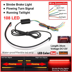 Motorcycle Sequential Switchback Flowing Led Tail Brake Turn Signal Strip