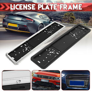 Car Universal Uk Eu Euro European German Russian License Plate Holder Frame