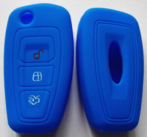 Blue Car Flip Key Remote Cover Case For Ford New Ranger 2012 2013 Focus