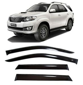 For Toyota Fortuner 2005 2015 Side Window Visors Sun Rain Guard Vent Deflectors
