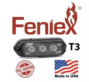 New Feniex Cobra T3 Surface Mount Led Grill Light 5 Year Warranty Color White