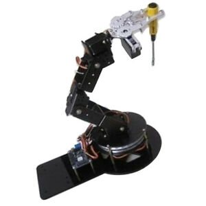 Alloy 6 Axis Robotic Mechanical Arm Claw W Gripper Servo Base For Arduino