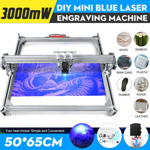 50x65cm Area Mini Laser Engraving Cutting Machine Printer Kit Desktop 3000mw
