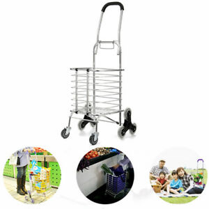Folding Portable Stair Climbing Shopping Cart Trolley Ladder Climber Foldable