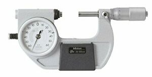 Mitutoyo 510 122 Dial Indicating Micrometer Ratchet Stop 25 50mm Range
