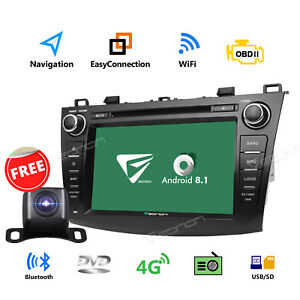 Us 8 Android 8 1 Car Gps Navigation System Dvd Radio For Mazda 3 2010 2013 Cam B