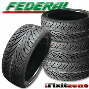 4 New Federal Ss 595 215 45r17 87v Bsw All Season Uhp High Performance Tires