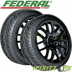 2 Federal Ss595 215 40r17 83v All Season Uhp High Traction Performance Tires