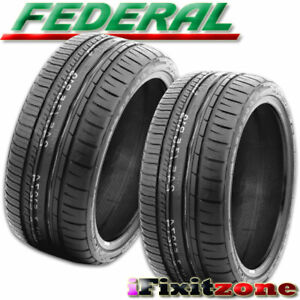 2 New Federal 595 Rpm 335 30zr20 104y Sport Racing Performance Summer Uhp Tire