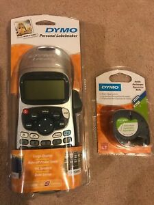Labelmaker Dymo Letratag Lt 100h 2 Pack Of Label Cartridges