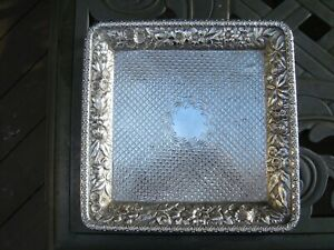 American Sterling Silver Tray Jacobi Jenkins Made For Je Caldwell 8 Inches