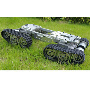 Robot Tank Car Chassis Kit With 4wd Motors For Arduino Diy 15x8x3 3 Inch