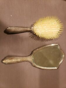 Tiffany Sterling Hairbrush And Mirror