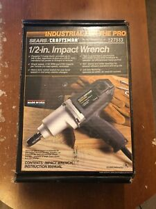 Craftsman Industrial 1 2 Corded Electric Impact Wrench 27513 Made In Usa