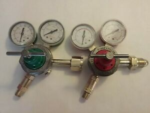 Smith H1710a Oxy H1721a Acet Gas Regulators Victor Cutting Torch Compatible
