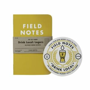 New Field Notes Drink Local Lagers Fall 2013 3 Pack Memo Notebooks Sealed