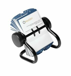 Rolodex Open Rotary Business Card File With 200 2 5 8 By 4 Inch Card Sleeve A