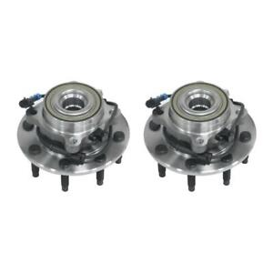 2x Front Wheel Hub Bearing Assembly For Chevy Gmc Silverado Sierra Hummer H2 4wd