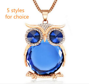Owl Car Rear View Mirror Pendant Interior Decor Accessories Ornament Necklace