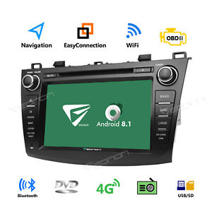 Quad Core Android 8 1 Car Dvd Player For Mazda 3 2010 2013 Radio Stereo Usb Sd W