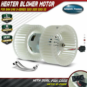 Hvac Blower Heater Motor Double Shaft For Bmw E46 3 Series 320i X3 700165