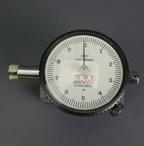 Cdi Chicago 2 c10 025 1 Dial Indicator With Magnetic Base Works Perfectly