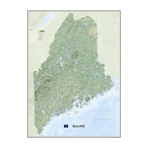 National Geographic Wall Map Maine Re01020522