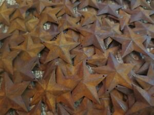 Huge 400 Pc Lot Rusty Stars 200 Ea 1 5 2 25 Primtive Country Metal Barn Rusted