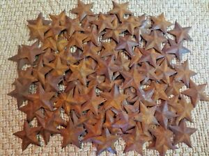 Huge Lot 500 Rusty Barn Stars 2 25 In 2 1 4 Primitive Rustic Country Rusted Tin