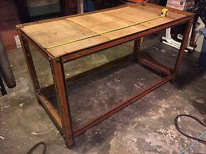 Industrial Metal Shelving mechanic Shop vintage tv Stand Coffee Table Steam Punk