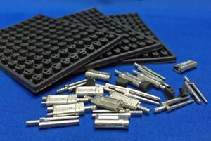 Twin Double Pin With Metal Sleeves And Rubber Caps 1000pcs Dental Lab