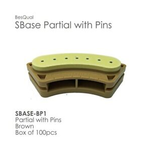 Sbase Partial With Pins Model Base 100pcs Partial Pre pinned Stone Base Dental