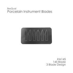 Porcelain Instrument Blade Sets 6 Blades With Handle A b c Dental Lab