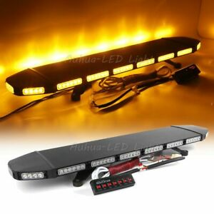 288w 39 5 Led Amber Warning Emergency Roof Top Tow plow Truck Strobe Light Bar