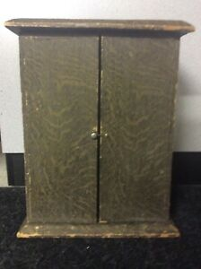 Vintage Doll Trunk Balsa Wood Wardrobe Carry Case Armoire Cabinet 15
