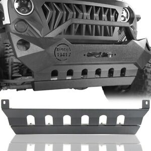 Black Front Bumper Lower Skid Plate Bracket Fit 2007 2018 Jeep Wrangler Jk jku