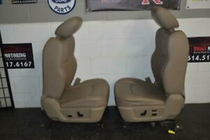 09 15 Dodge Ram Power Tan Leather Heat Air Cooled Driver Seat Complete W Track