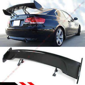 Universal 57 Painted Carbon Look Adjustable Gt Style Gt Rear Trunk Spoiler Wing