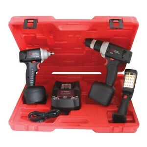 3 8 Drive 12 Volt Cordless Impact Wrench Drill And Light Kit Cpt8738kl New