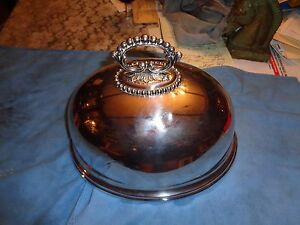Antique Mappin Webb Princes Plat Victorian Silver Plate Meat Cover Dome