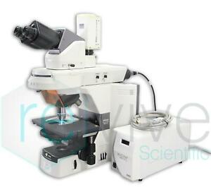 Nikon Eclipse 80i Fluorescence Microscope Complete W Source Objectives Phase