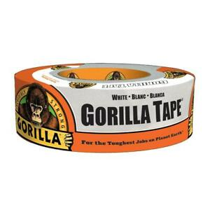 Gorilla 1 88 In X 30 Yds White Duct Tape 6 pack
