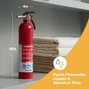 Home Fire Extinguisher Safety Portable Emergency Car Kitchen W Mounting Brackets