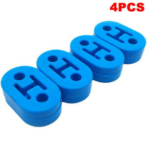 Universal New Silicone Muffler Exhaust Hanger Hangers 4pcs Blue 12mm