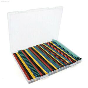 9e16 100pcs 2 1 Mixed Color Heat Shrink Tube Sleeve Assorted 6 Size With Box