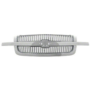 New 2003 2004 2005 2006 Chevy Silverado Chrome Vertical Grill Grille