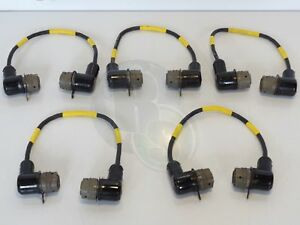 Lot X5 Bendix Ms3116e14 5p 5 pin Male To 5 pin Male Circular Connector Cables