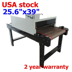 Us Small T shirt Conveyor Tunnel Dryer 25 6 x39 Belt For Screen Print 220v