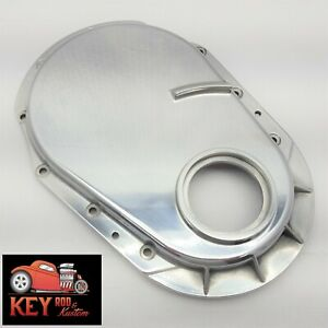 Polished Aluminum Big Block Chevy Timing Chain Cover 454 Mark V Gen 5